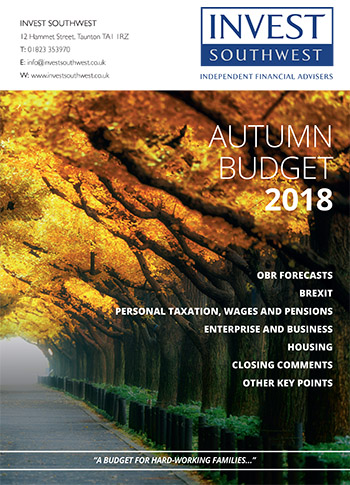 Invest Southwest Autumn Budget 2018